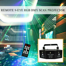 Remote 9-EYE RGB DMX Scan Projector Laser LED Strobe DJ Party Stage Lighting NEW