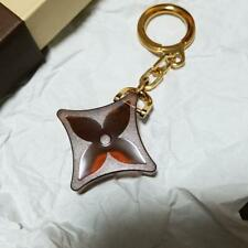 Louis Vuitton Key Ring Bag Charm Flower Motif Brown/Gold In Box Promo Gift