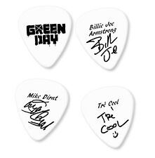Famous signature print plectrum guitar picks white pick black print Green day