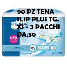 90 TENA SLIP PLUS TAILLE XS 3 PACKS DE 30 PIÈCES C.U. INCONTINENCE
