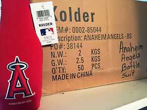 Angels MLB Logo Kolder Beer Bottle Suit Holder Coozie Koozie-50 Unit Case