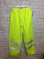 Dickies Mens High Visibility Reflective Yellow 3M Scotchlite pants Sz S/M