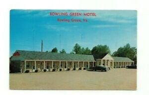 """VA Bowling Green Virginia vintage post card """"Bowling Green Motel"""""""