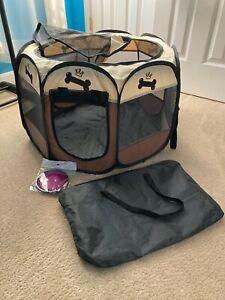 Ruff and Ruffus Portable Foldable Pet Playpen New Color Black /Cream