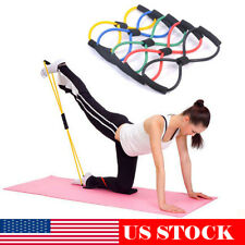 Resistance Bands Rope Fitness Tube Exercise Gym Yoga Stretch Arm Chest Expander