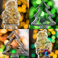 X200 pièce arbre de Noël et Père transparent à remplir Décorations set