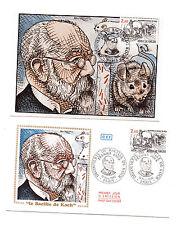 """FRANCE """" Robert Koch """". Carte et envelopp  e 1er jour"""