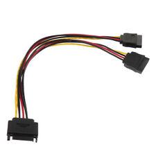 Sata mâle à Sata 2 femelle 15 broches câble d'extension de diviseur de