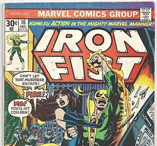 Marvel Comics IRON FIST #10 Battles Chaka from Dec. 1976 in G/VG condition
