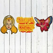 Set She-ra Embroidered Patches Head Kowl POP Logo Masters Universe MOTU He-man