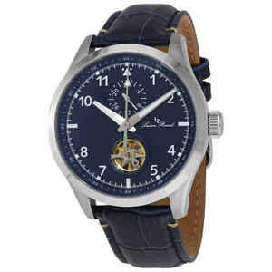 Lucien Piccard GMT Open Heart Automatic Blue Dial Men's Watch 1295A2