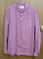 NWT Rolla's mens long sleeve dusty pink shirt, size M RRP $100