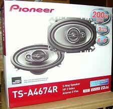 "PIONEER 4X6"" 3 WAY CAR SPEAKERS NEW TS-A4674R TSA4674R"