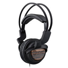NoiseHush NX22R 3.5mm Stereo Headphones with In-Line Microphone - [Wood Style]