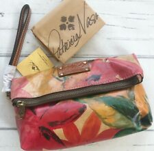 New ListingPatricia Nash Floral Leather Fold Over Wristlet Clutch Wallet tan red Nwt