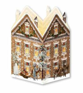 Advent Calendar Victorian Style Christmas town house tea light lantern c