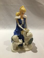 Snowbabies UNDER THE MIDNIGHT MOON WITH BARBIE Porcelain Dept. 56 Figurine 9.5""