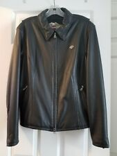 Womens Harley Davidson Black 100% Leather Jacket size XL