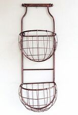 Two Tier Pot Stand Wall hanging metal art