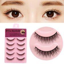 5 Pairs Handmade False Eyelashes Short Thick Natural Fake Eye Lashes Set Makeup