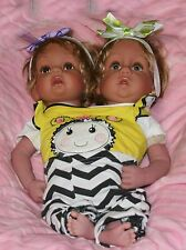 Handmade Lifelike Reborn Doll  Conjoined  Toddler TwinGirls