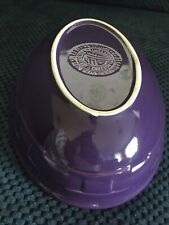"""Longaberger Pottery, Woven Traditions, Oval Serving Bowl, 9"""" x 7"""", Eggplant"""