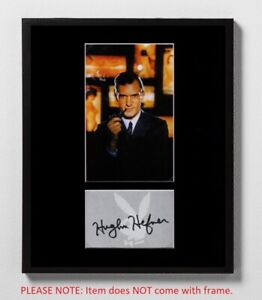 Hugh Hefner Matted Autograph! Playboy Magazine Founder! American Icon! Rare!
