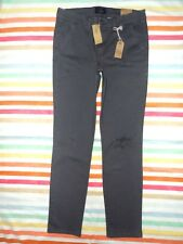 NWT AMERICAN EAGLE STRETCH LOW-RISE SKINNY DESTROYED PANTS DARK/GRAY SZ 8REG*$49