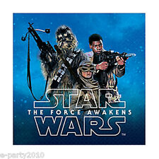 STAR WARS Force Awakens SMALL NAPKINS (16) ~ Birthday Party Supplies Dinner Cake