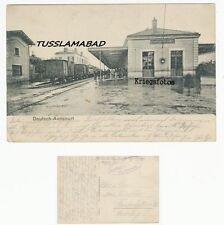 Deutsch Avricourt Frankreich alter Bahnhof Soldaten Schild Feldpost Postkarte