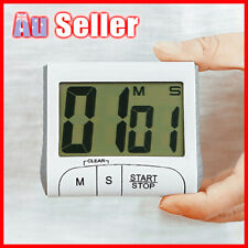 Digital Timer Count Loud Down Clock Stick Magnetic LCD Alarm Cook Kitchen Sport