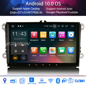 "9"" DAB + radio android 10.0 for vw passat golf 5/6 polo v6r scirocco carplay 4g"