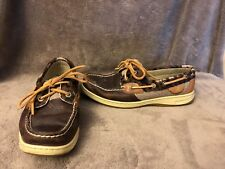 Womens Sperry Top-Sider Brown Leather Boat Deck Shoe Loafer 7 M