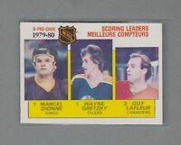 1980-81 O-Pee-Chee Scoring Leaders #163 Wayne Gretzky, Dionne & Lafleur