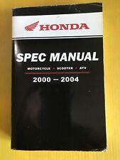 Honda Spec Manual 2000-2004 Motorcycle-Scooter-Atv