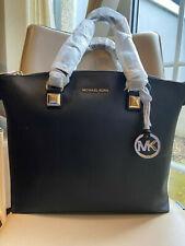 Brand New Michael Kors Large Karla Multi Function Leather Tote Bag, Black