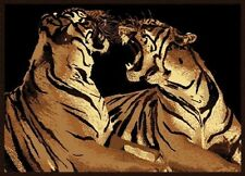 Double Tigers Two Big Cats Design 5X8 Area Rug Carpet