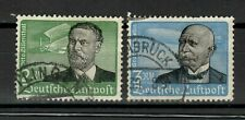 s31233) GERMANY 1934 USED Air Mail 2 high values 2dm + 3dm Zeppelin 2v