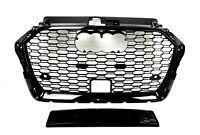 Für Audi A3 8V 16+ RS3 Look Wabengrill Stoßstange Diffusor Grill Kühlergrill #03