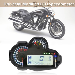 Replacement Motorbike LCD Digital Speedometer Universal for DC 12V Motorcycles