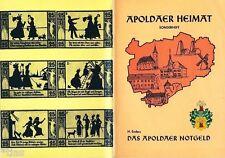 Apoldaer Heimat Enders Das Notgeld von Apolda 1917-1923 Thüringen 1985