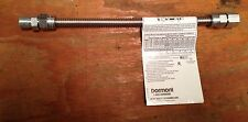 "3/8 X 18"" Dormont Stainless Steel Propane, Natural Gas Flex Connector"