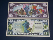 BEAUTIFUL UNC.  NOVELTY NOTE  DISNEY'S MONSTER'S INK FREE NOTE OFFER!