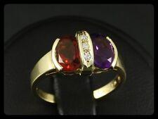 Attraktiver Amethyst Citrin Brillant Ring ca. 2,00ct  585/- Gelbgold