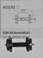 Roco 1 Paar 40192  NEM -HO - Normradsatz DC f. Wg. m. Innenbeleuchtung  # NEU  #
