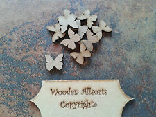 50x 20mm Butterflies MDF wooden shape, craft embellishments scrapbooking