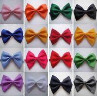 Lot 20 Pcs Mens Tuxedo Bowtie 20 Solid Colors Neckwear Adjustable Bow Tie Black.
