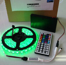 Battery Powered 5050 RGB SMD LED Strip Light Kit WaterProof 44 key Remote 16 ft