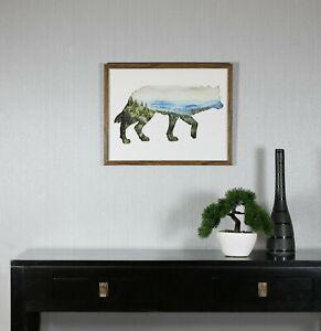 Arthouse Forest In Fox - Wooden Framed Print - 50cm x 40cm -37