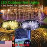 US LED Light Net Mesh Fairy String Light Xmas Curtain Lights Party Wedding Decor